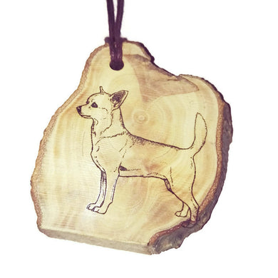 Chiwawa Chihuahua Dog choker Pendant Handmade Wooden Charm Natural Personalised Necklace Earrings Keyring Charms #Handmade