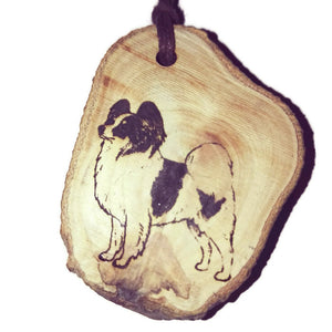 Papillon Dog choker Pendant Handmade Wooden Charm Natural Personalised Necklace Earrings Keyring Charms #Handmade