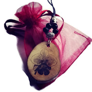 Orchid Necklace Pendant Wooden Charm Natural Necklace Earrings Keyring Charms #Orchid