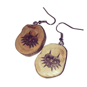 Zelda Inspired EaRrings Natural Handmade Brown Wooden Boho #Zelda #Earrings