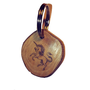 Unicorn Horse choker Pendant Handmade Wooden Charm Natural Personalised Necklace Earrings Keyring Charms #Handmade