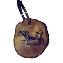 Cow Cattle Farmyard Farm Animal Necklace Pendant Handmade Wooden Charm Natural Personalised Necklace Earrings Keyring Charms #Cow