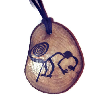 The Monkey Nazca Lines Inspired Handmade Necklace Wooden Eco Friendly Wood Rustic Jewellery Gift Charms #NazcaLines