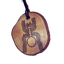 The Spider Nazca Lines Inspired Handmade Necklace Wooden Eco Friendly Wood Rustic Jewellery Gift Charms #NazcaLines
