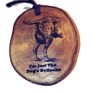 Dogs Bollocks choker Pendant Handmade Wooden Charm Natural Personalised Necklace Earrings Keyring Charms #Handmade
