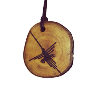The Hummingbird Nazca Lines Inspired Handmade Necklace Wooden Eco Friendly Wood Rustic Jewellery Gift Charms #NazcaLines
