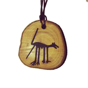 The Dog Nazca Lines Inspired Handmade Necklace Wooden Eco Friendly Wood Rustic Jewellery Gift Charms  #NazcaLines