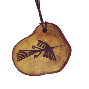 The Condor Nazca Lines Inspired Handmade Necklace Wooden Eco Friendly Wood Rustic Jewellery Gift Charms #NazcaLines