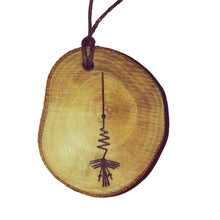 The Heron Nazca Lines Inspired Handmade Necklace Wooden Eco Friendly Wood Rustic Jewellery Gift Charms #NazcaLines