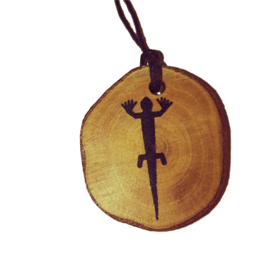 The Lizard Nazca Lines Inspired Handmade Necklace Wooden Eco Friendly Wood Rustic Jewellery Gift Charms #NazcaLines