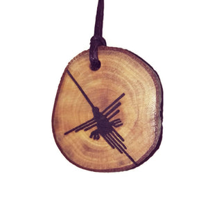 The parrot Nazca Lines Inspired Handmade Necklace Wooden Eco Friendly Wood Rustic Jewellery Gift Charms #NazcaLines