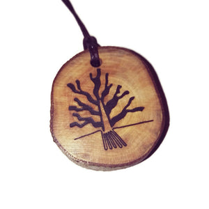 Labyrinth Nazca Lines Inspired Handmade Necklace Wooden Eco Friendly Wood Rustic Jewellery Gift Charms  #NazcaLines