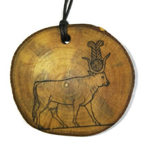 Hathor hieroglyph Priest God Symbol Handmade Wood Necklace Pendant Charm  #Hathor