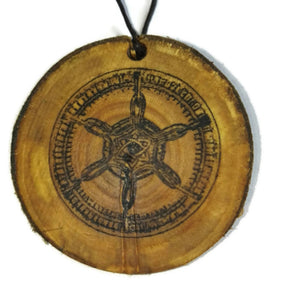 Aloy Seeker Symbol Horizon Zero Dawn Inspired Natural Necklace Wooden Charm  #GamerGift