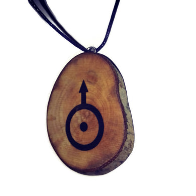 Uranus Celestial Symbol Planet Necklace Pendant Wooden Charm Natural Necklace Earrings Keyring Charms #Celestial