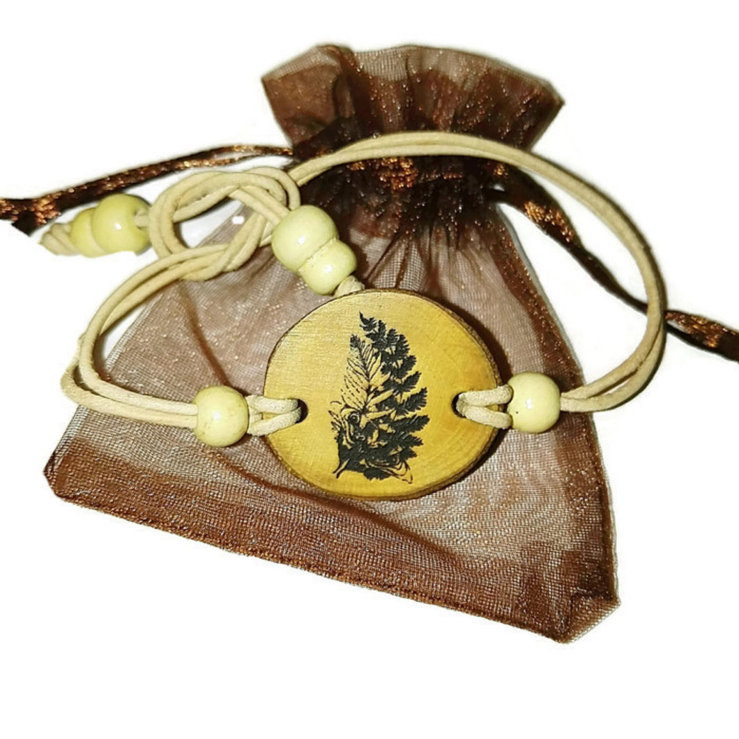 Last of Us 2 Fern Tattoo Inspired Bangle Necklace Pendant Charm Earrings Keyring Personalised Natural Handmade Wooden Boho #LastofUs