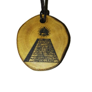 The Eye of Providence  Necklace Wooden Charm Pendant #EyeofProvidence
