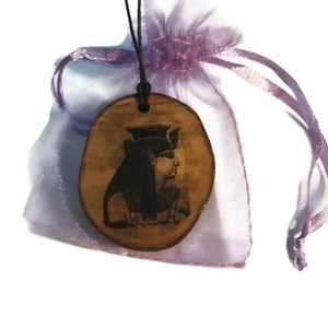 Nekhbet Egyptian Deities God Egyptian Deities God Necklace Wooden Charm Pendant #Nekhbet