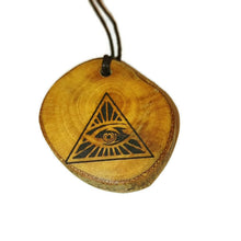 The All Seeing Eye of Providence  Necklace Wooden Charm Pendant #EyeofProvidence