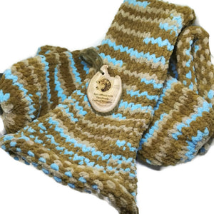 Brown Beige Blue Cream  Handmade Socks #Socks