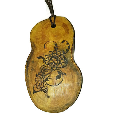 Floral Bespoke Necklace Pendant Wooden Charm Natural Necklace Earrings Keyring Charms #Floral