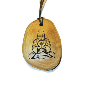 Gautama Buddha choker Pendant Handmade Wooden Charm Natural Personalised Necklace Earrings Keyring Charms #Handmade
