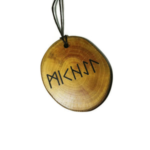 MICHAEL OR YOUR NAME ENGRAVED IN RUNIC RUNE NECKLACE