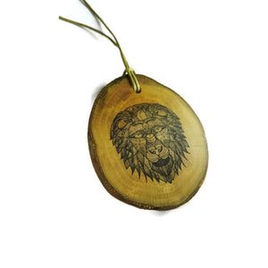 African lion Cat choker Pendant Handmade Wooden Charm Natural Personalised Necklace Earrings Keyring Charms #Handmade