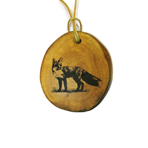 Fox Necklace Pendant Handmade Wooden Charm Natural Personalised Necklace Earrings Keyring Charms #Fox