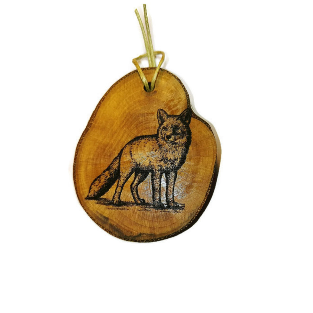 Vixen Fox Necklace Pendant Handmade Wooden Charm Natural Personalised Necklace Earrings Keyring Charms #Fox