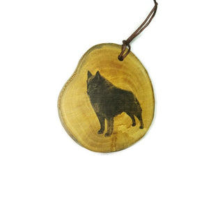 Schipperke Dog choker Pendant Handmade Wooden Charm Natural Personalised Necklace Earrings Keyring Charms #Handmade