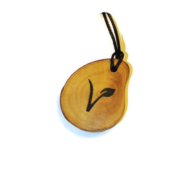 Vegan Symbol Necklace Pendant Wooden Charm Natural Necklace Earrings Keyring Charms #Vegan