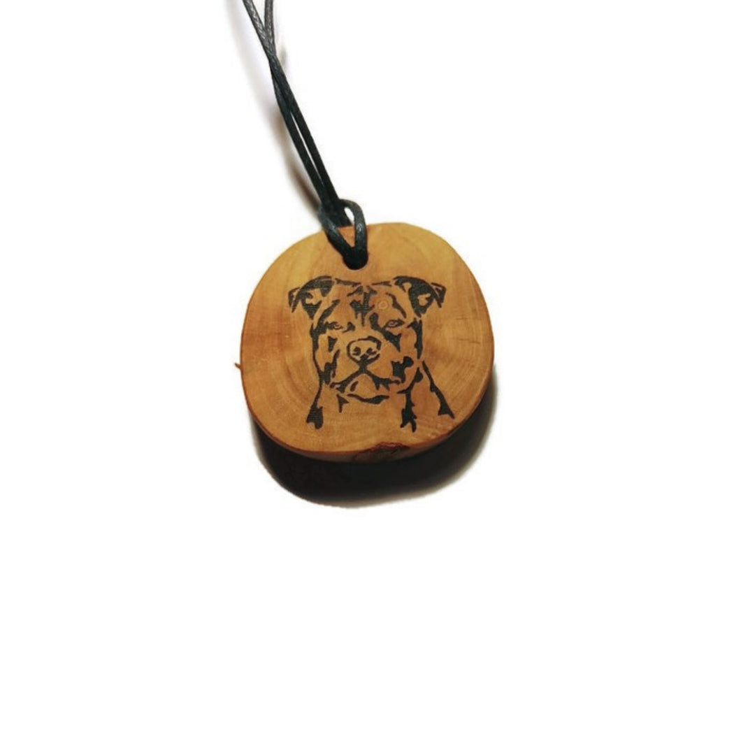 British Bulldog Dog choker Pendant Handmade Wooden Charm Natural Personalised Necklace Earrings Keyring Charms #Handmade