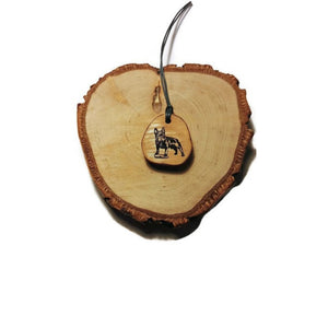 French Bulldog Dog choker Pendant Handmade Wooden Charm Natural Personalised Necklace Earrings Keyring Charms #Handmade