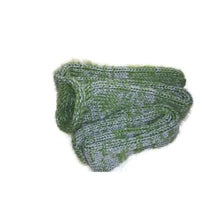 Olive Green Grey Mix Knitted Handmade Wool Unisex bed sofa Socks Casual Novelty Custom Personalised Socks #Socks #Retro