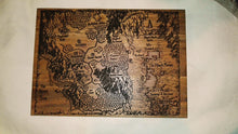 World of Warcraft Map of Azeroth Wood Acacia Cheese Bread Chopping Board #Warcraft