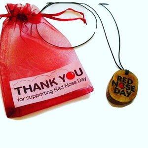 RED NOSE DAY COMIC RELIEF Necklace Handmade Engraved Bespoke Gift #RedNoseDay