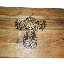 Thors Hammer Mjolnir Wooden Acacia Engraved Chopping Board #Viking #Thor