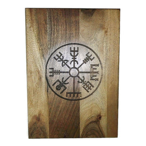 Vegvisir Nordic Compass Norse Viking Wood Acacia Chopping Board #Viking