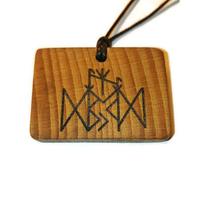 Weight Loss Binding Rune Amulet Runic Talisman Necklace
