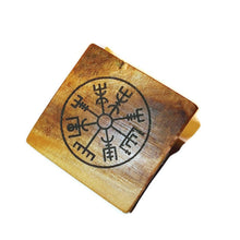 Vegvisir Nordic Compass Handmade Wood Engraved Badge #Vegvisir