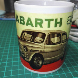 Fiat Abarth 850cc Mug Classic Car Vintage Tea Coffee Mugs #Fiat