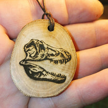 T Rex Dinosaur Necklace Pendant Wooden Charm Natural Necklace #TRex