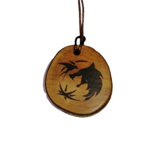 The witcher Character Symbols Handmade Wood Engraved Necklace Pendant #Witcher