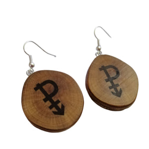 Pansexual Symbol Handmade Wood Necklace Earrings Keyring #Pansexual