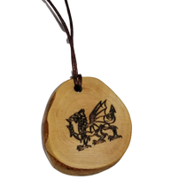 Welsh Dragon Pendant Wood Necklace Earrings Keyrings Charms #Wales