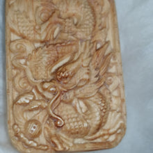 Chinese Dragon Necklace Carved Wood Pendant Choker #Dragon