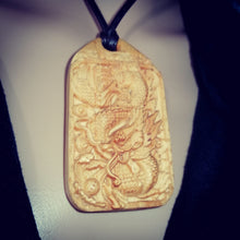 Chinese Dragon Necklace Carved Bespoke Handmade Wood Pendant #Dragon