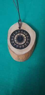 Vintage Clock Necklace Pendant Wooden Charm Personalised #Clocks