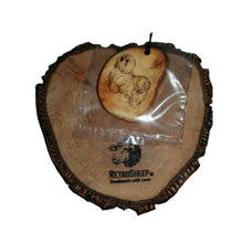 Personalised Text Logo Wood Engraved Scented Oil Diffuser Car Air Freshener